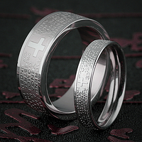 """Кольца """"Спаси и сохрани"""" для пары влюбленных, в наличии жен. 16.5, 17.3, 18, фото 1"""