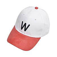 Бейсболка (Буква) искусственная замша, Унисекс W