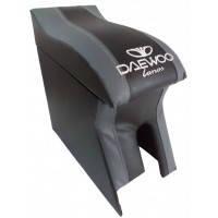 Подлокотник модельный Daewoo Lanos черно-серый с логотипом, изгиб под руку