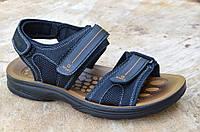 Босоножки, сандали мужские черные искусственная кожа регулируемый подъем, длина. Лови момент