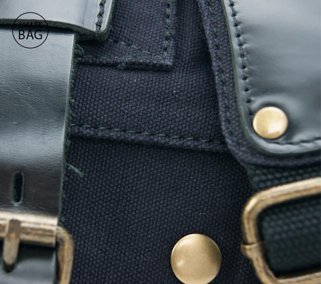 Мужская сумка через плечо Akarmy | милитари | черная
