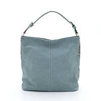 Женская мягкая сумка на плечо L. Pigeon бирюзовая