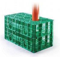 Дренажний блок (модуль) для стічних вод