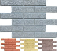 Фасадная панель «Кирпич» (гладкий и колотый без утеплителя, с пигментом) для отделки стен