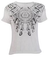 Винтажная летняя белая футболка