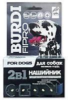 Ошейник Бурди Фипро 2в1 для собак крупных пород с украшениями, 65 см, O.L.KAR. (Олкар)