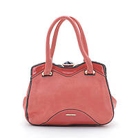 Женская сумочка на защелке L. Pigeon коралловая