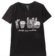 Летняя футболка с кактусами
