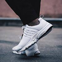 Мужские кроссовки в стиле NIKE Air Presto White белые, фото 1