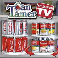 Вращающаяся двухуровневая подставкадля банок и консервов Can Tamer