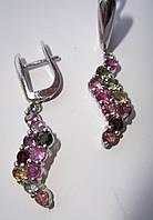 Серебряные серьги с натуральными турмалинами от студии LadyStyle.Biz, фото 1