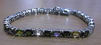 """Шикарный серебряный браслет с турмалинами """"Радуга"""" от студии LadyStyle.Biz, фото 1"""
