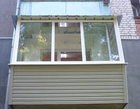 Наружная обшивка балкона. Обшивка балконов снаружи в Макеевке