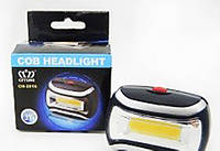 Налобный фонарик BL-2016 COB, компактный фонарь, светодиодный аккумуляторный фонарь, фонарик на голову