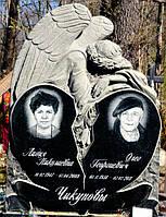 Памятник гранитный на двоих с ангелом