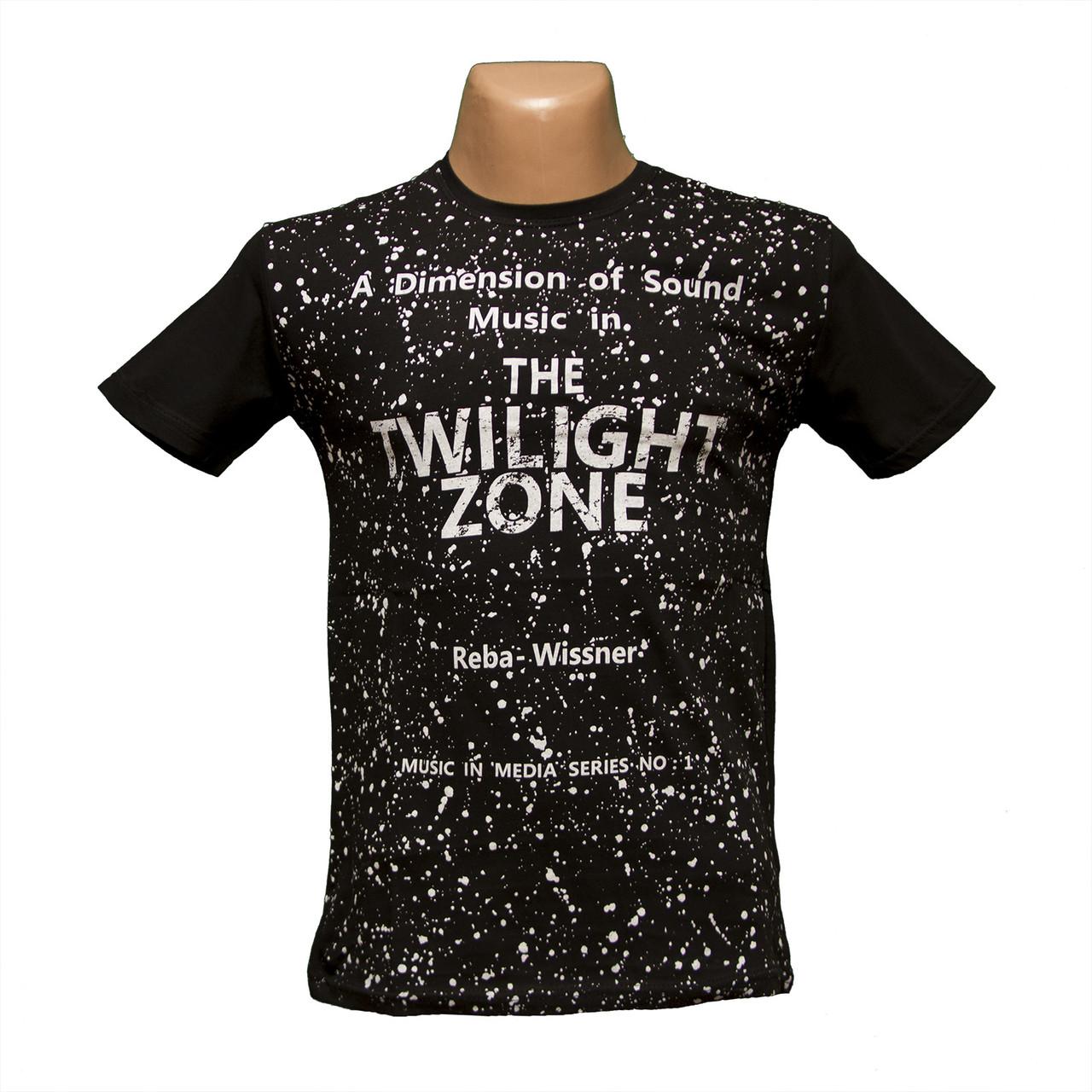 Молодежная черная мужская футболка хлопок  5263-3