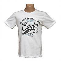 Мужская белая футболка больших размеров по низким ценам Турция 7803-2