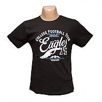 Мужская черная футболка больших размеров по низким ценам Турция 7803-4