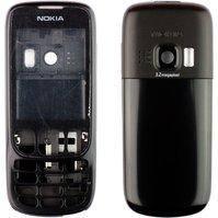 Корпус для мобильных телефонов Nokia 6303, 6303i, high-copy, черный
