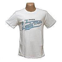 Мужская белая футболка оптом большие размеры Турция 7807-2