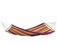 Мексиканский подвесной хлопковый гамак, с перекладинами 200*80см, разноцветный