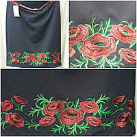 Стильная вышитая юбка для женщин, черная, 52-58 р-ры, 350/285 (цена за 1 шт. + 65 гр.)