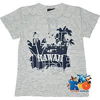 """Летняя футболка с ярким принтом """"Paradise"""" , трикотаж , для мальчика (рост 140-176 см) (4 ед. в уп.)"""