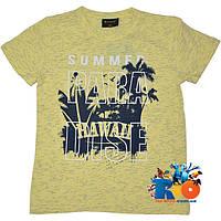 """Детская футболка с ярким принтом """"Paradise"""" , трикотаж , для мальчика (рост 140-176 см) (4 ед. в уп.)"""