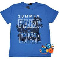 """Летняя футболка """"Paradise"""" , трикотаж , принт , для мальчика (рост 140-176 см) (4 ед. в уп.)"""
