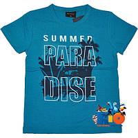 """Детская футболка """"Paradise"""" , трикотаж , принт , для мальчика (рост 140-176 см) (4 ед. в уп.)"""