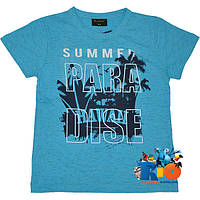 """Стильная футболка """"Paradise"""" , трикотаж , принт , для мальчика (рост 140-176 см) (4 ед. в уп.)"""