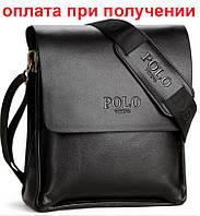 Чоловіча шкіряна фірмова сумка POLO Поло, фото 1