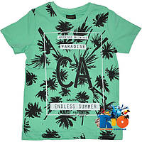 """Летняя футболка """"Endless Summer"""" , трикотаж , принт , для мальчика (рост 140-176 см) (4 ед. в уп.)"""