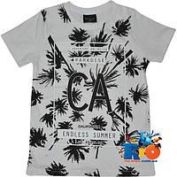 """Детская футболка """"Endless Summer"""" , трикотаж , принт , для мальчика (рост 140-176 см) (4 ед. в уп.)"""