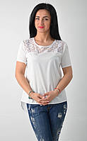 Женская блузка с удлиненной спинкой