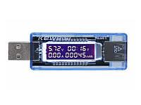 USB тестер емкости батарей вольтметр амперметр KEWEISI