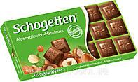 Шоколад Schogetten  Alpine Milk with Hazelnuts 100 г (Германия), фото 1