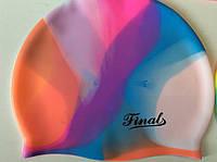Шапочка для плавания силиконовая глубокая (для длинных волос) однотонная и радужная разных оттенков, фото 1