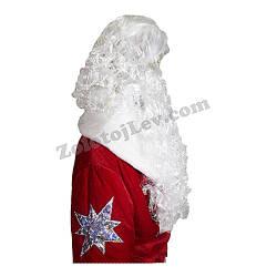 Борода Деда Мороза с большим париком
