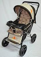 Прогулочная детская коляска Sigma H-T(WFS)-D с мягким матрасиком. Песочная.