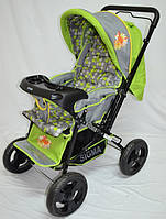 Прогулочная детская коляска Sigma H-T(WFS)-D с мягким матрасиком. Салатовая