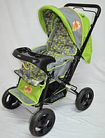 Прогулочная детская коляска Sigma H-T(WFS)-D с мягким матрасиком. Салатовая, фото 1