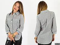Рубашка в серую полоску 15335