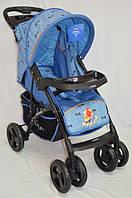 Прогулочная детская коляска Sigma YK-8F с мягким матрасиком. Голубая