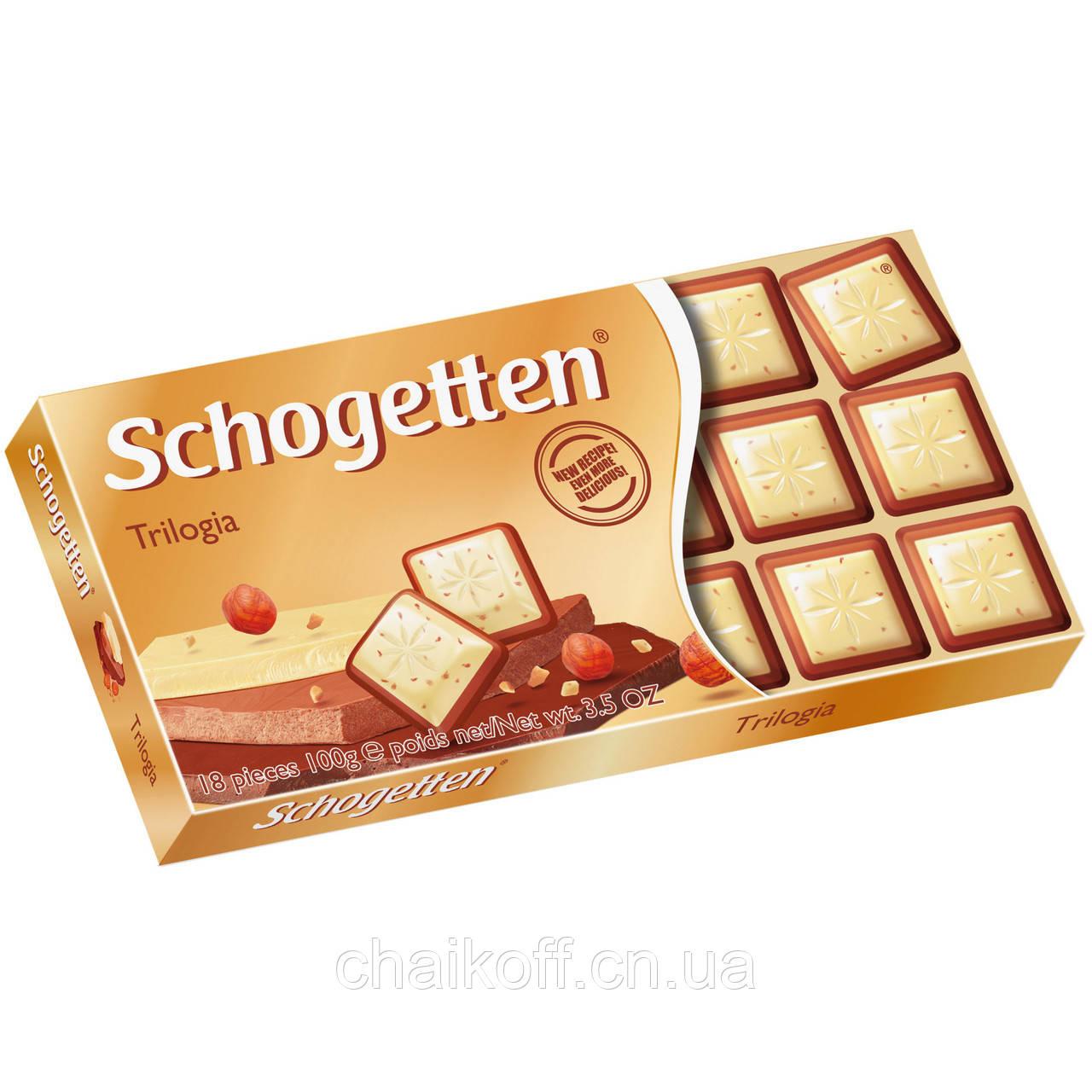 Шоколад Schogetten  Trilogia 100 г (Германия)