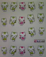 """Наклейка на ногти, наклейка для ногтей, ногтевой дизайн """"Hello Kitty Хелло Китти котик"""" 20 шт набор"""