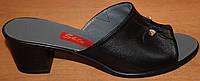 Кожаные сабо на среднем каблуке, летняя женская обувь от производителя модель СТЛ23