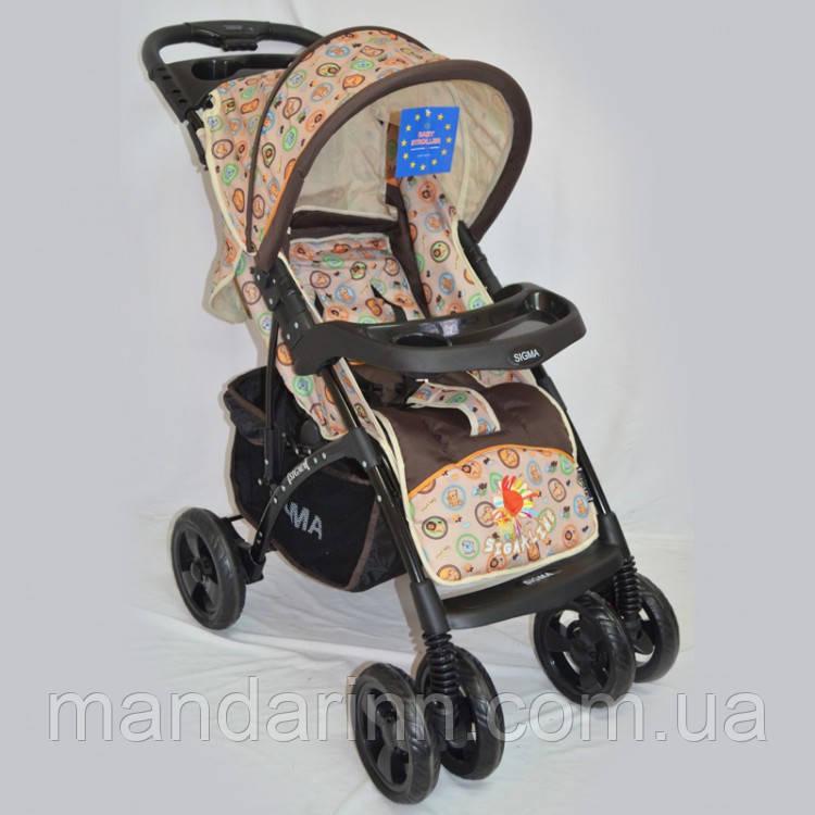 Прогулочная детская коляска Sigma YK-8F с мягким матрасиком.