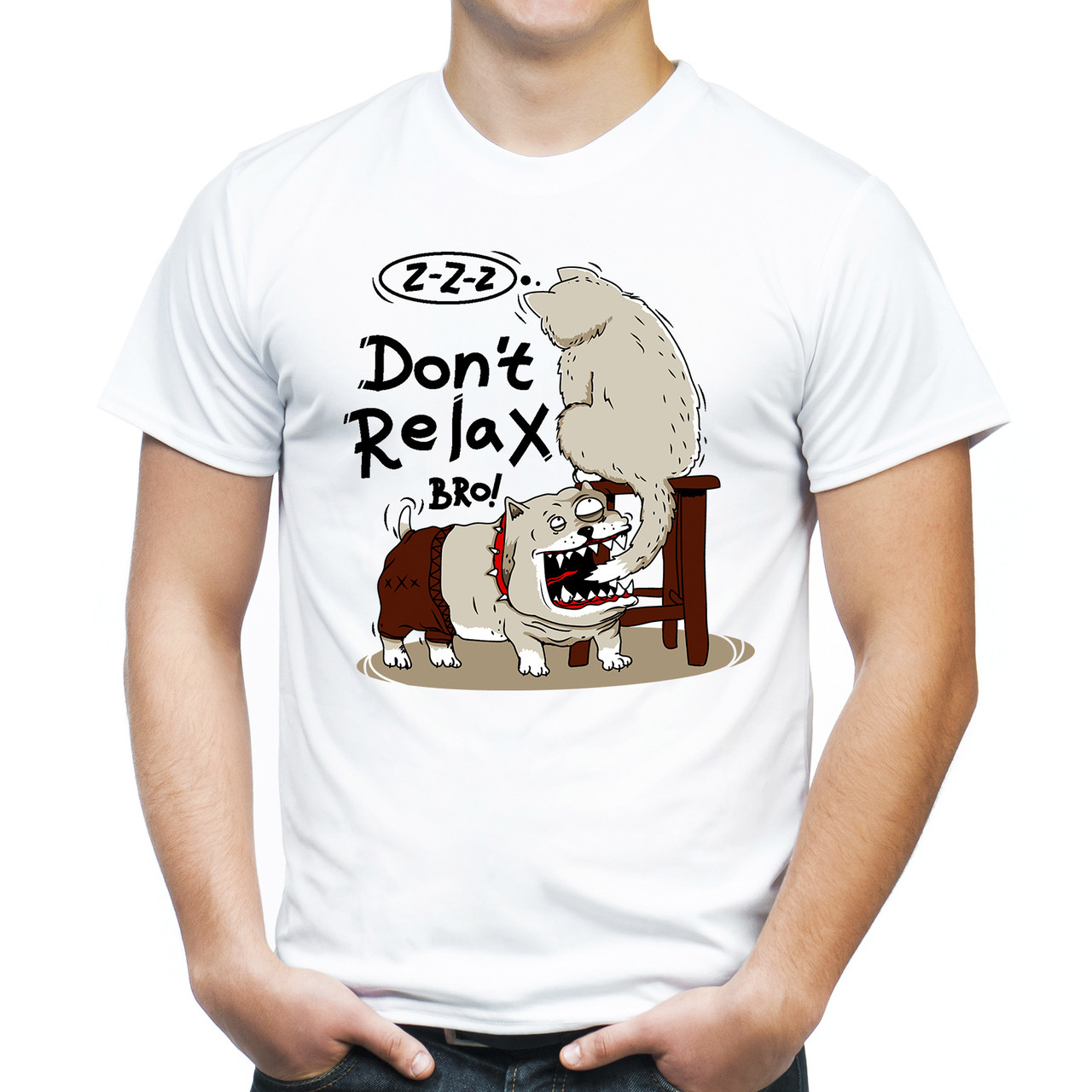 "Мужская футболка ""Don`t relax, Bro!"""