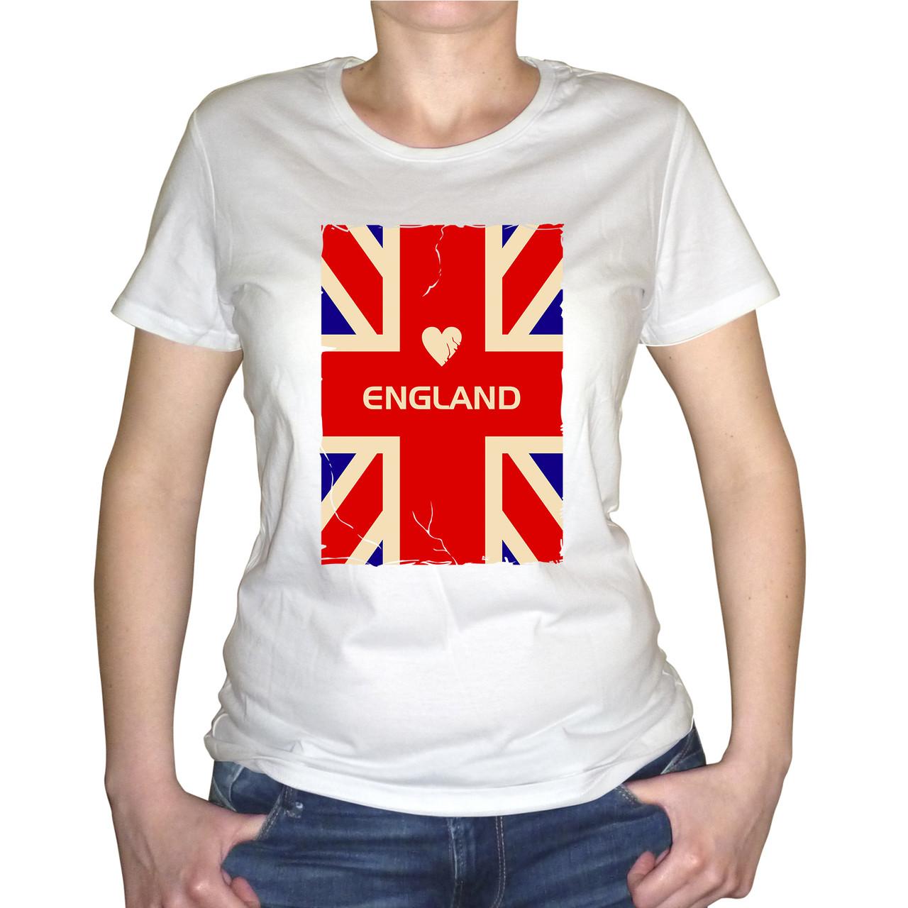"""Женская футболка """"England"""""""
